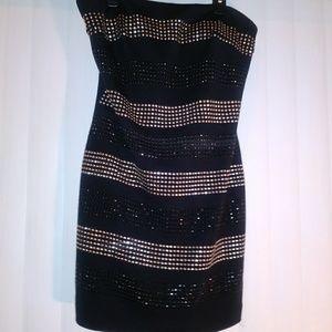Sparkly-stone tube top dress